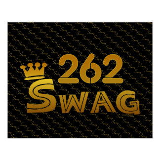 262 Area Code Swag Posters
