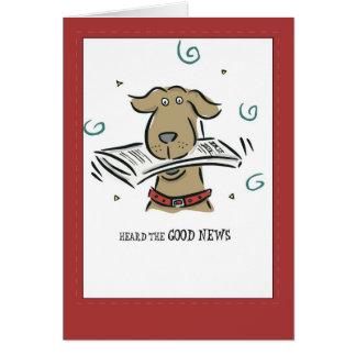 2666 Good News Dog Congratulations Card