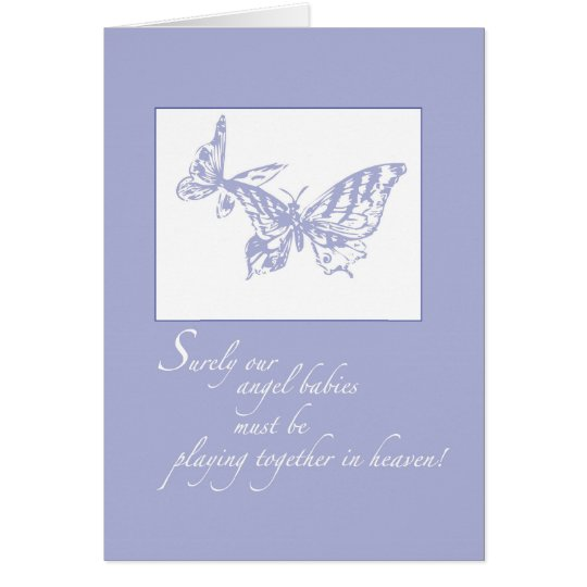 2672 Loss of Baby Support Butterflies Card