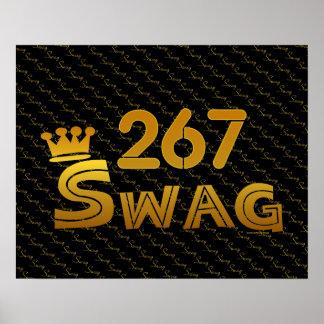 267 Area Code Swag Print