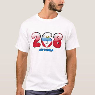 268 Area code for Antigua T-Shirt