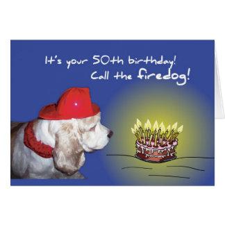 2693 50th Birthday Firedog Greeting Card