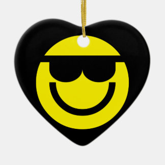 2699-Royalty-Free-Emoticon-With-Sunglasses COOL DU Ceramic Ornament