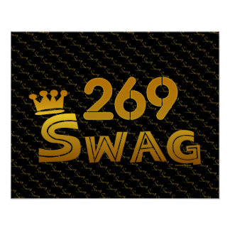 269 Area Code Swag Poster