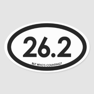 26.2, But Who's Counting? Oval Sticker
