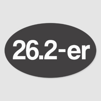26.2-er or Marathoner - Marathon Runners Oval Sticker