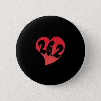 26.2 Heart 2 Inch Round Button