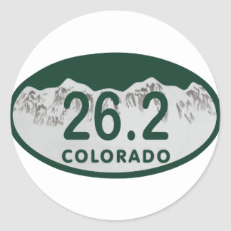 26.2 License oval Classic Round Sticker