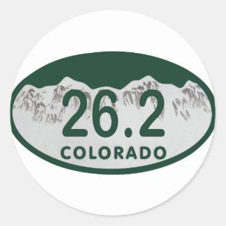 26.2 License oval Round Sticker