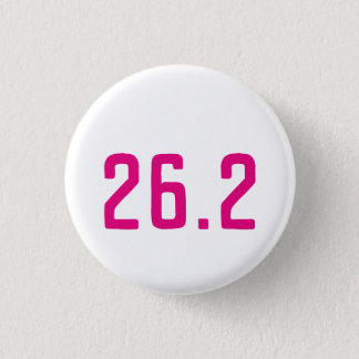 26.2 Marathon button badge