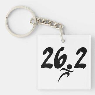 26.2 marathon acrylic keychain
