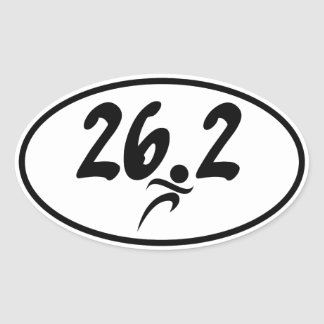 26.2 marathon oval sticker
