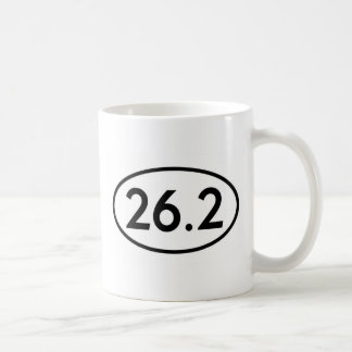 26.2 Marathon Runner Oval (#GEO7) Coffee Mug