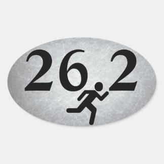 26.2 Marathon Running Oval Sticker