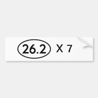 26,2 serial marathoner bumper sticker