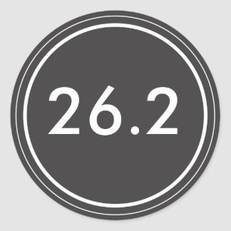 26.2 Sticker | Black with white text