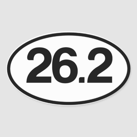 26.2 Sticker (Full Marathon Sticker)