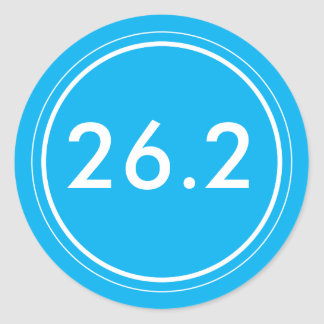 26.2 Sticker | Light blue with white