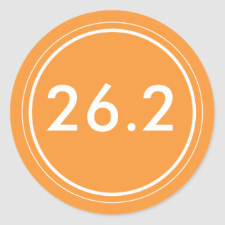 26.2 Sticker | Orange and white