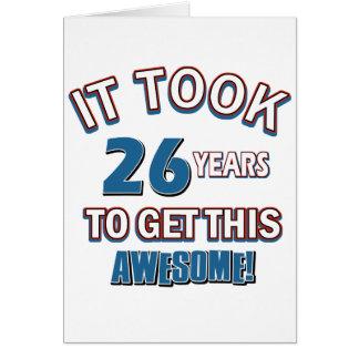 26 year old birthday designs card