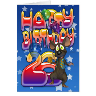 26th Birthday Card, Happy Birthday Card
