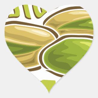 26th February - Pistachio Day Heart Sticker