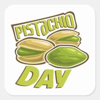 26th February - Pistachio Day Square Sticker