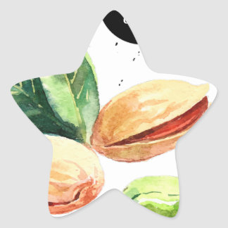 26th February - Pistachio Day Star Sticker