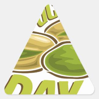 26th February - Pistachio Day Triangle Sticker