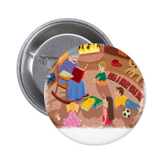 26th February - Tell A Fairy Tale Day 2 Inch Round Button