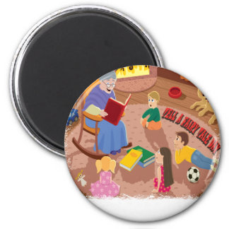 26th February - Tell A Fairy Tale Day 2 Inch Round Magnet