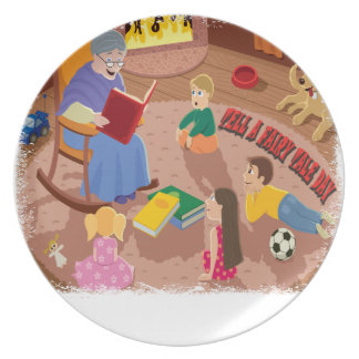 26th February - Tell A Fairy Tale Day Dinner Plate
