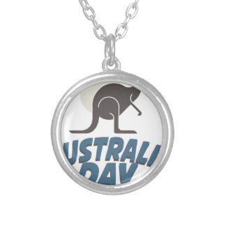 26th January - Australia Day Silver Plated Necklace