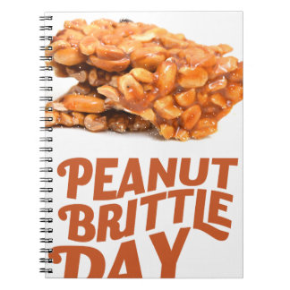26th January - Peanut Brittle Day Notebooks