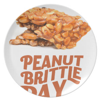 26th January - Peanut Brittle Day Plate