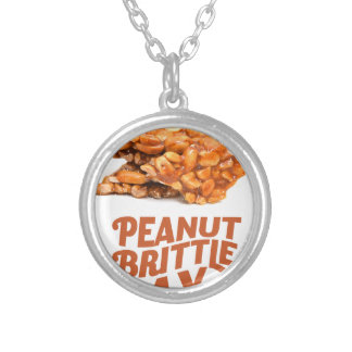 26th January - Peanut Brittle Day Silver Plated Necklace