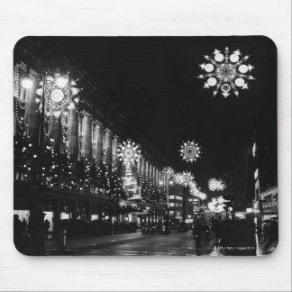 26th November 1960: City Christmas Lights Mouse Pad