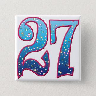 27 Age Rave 2 Inch Square Button