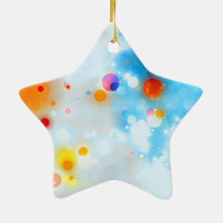 27 Baby Blue Red Orange Yellow Ceramic Star Ornament