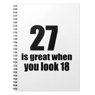 27 Is Great When You Look Birthday Notebook
