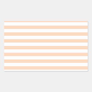 27 - Thin Stripes - White and Deep Peach