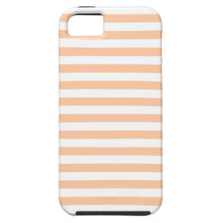 27 - Thin Stripes - White and Deep Peach iPhone 5 Cover