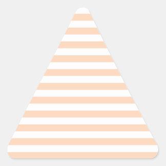 27 - Thin Stripes - White and Deep Peach Triangle Sticker