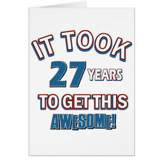 27 year old birthday designs card