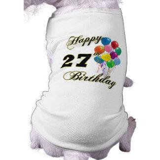 27èmes cadeaux d'anniversaire heureux avec des bal manteaux pour chien