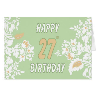 27th Birthday greeting card