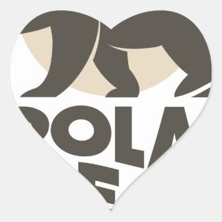 27th February - Polar Bear Day Heart Sticker