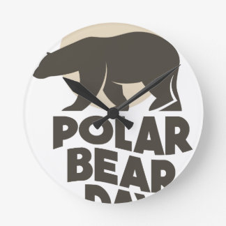 27th February - Polar Bear Day Round Clock