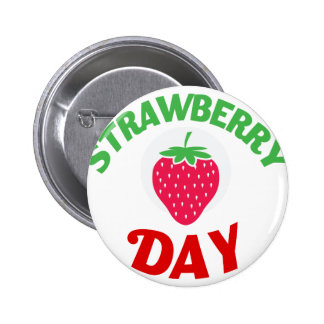 27th February - Strawberry Day 2 Inch Round Button