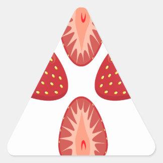 27th February - Strawberry Day - Appreciation Day Triangle Sticker